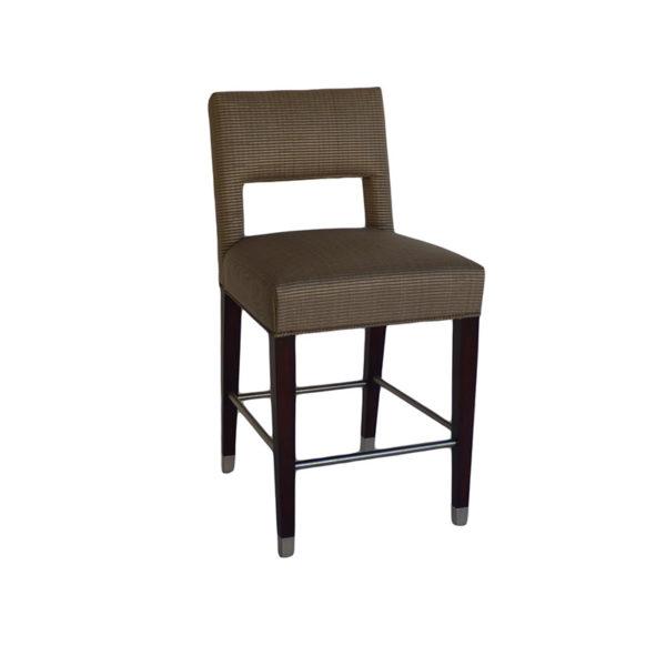 Cool Ws Bar 101 B With Brushed Chrome Sabots Bar Height 22 W 24 Machost Co Dining Chair Design Ideas Machostcouk